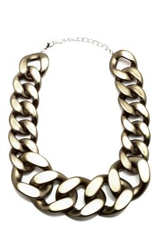 Bronze Chunky Link Necklace - main