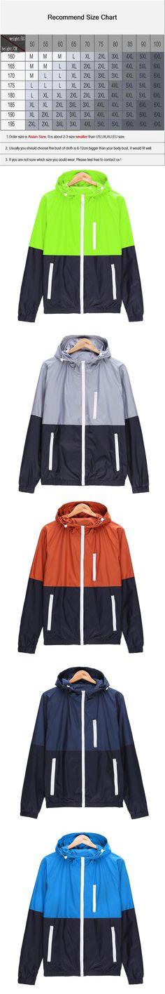 2017 Stylish Fashion High Quality Jacket Coats, Men Causal Hooded Jacket,Men Thin Windbreaker Zipper Coats Outwear JK101