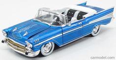 M2-MACHINES 40300 Skala: 1/24  CHEVROLET BEL AIR CONVERTIBLE CUSTOM 1957 BLUE…