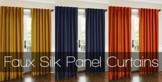 Faux Silk Panel Curtains $16 #giveaway