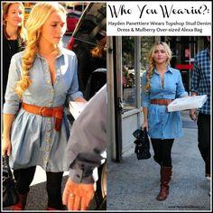 Who You Wearin':? Hayden Panettiere Wears Topshop Stud Denim dress