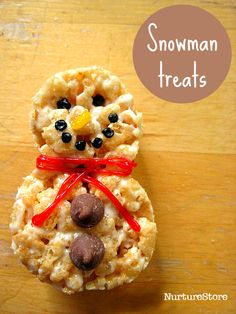 Cute snowman treats - fun winter recipe for kids :: festive snack :: Christmas party food for kids