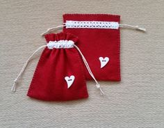 Pair of hand stitched felt Gift Bags £5.50
