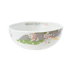 HELLO KITTY Sakura Bowl.New at Takaski.com. Kitty is playing hide and seek behindsakura cherry blossom! Machine-washable and microwavable.  Production: Made in Japan Size: Approx. 12.9×4.8cm Delivery: Directly from Japan
