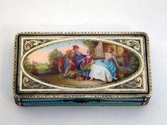 GERMAN SILVER & ENAMEL BOX c. 1910 CONTINENTAL STERLING SILVER John Bull Antiques www.antique-silver.co.uk New Bond Street, London, UK Antique Silver & Giftware