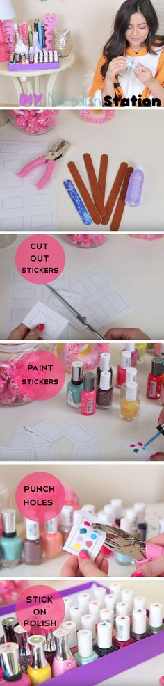 Make a Nail Polish Station | Click Pic for 23 Easy Spring Cleaning Tips and Tricks | DIY Teen Girl Bedroom Organization Ideas