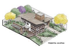 Arquitetura e Desenho: Perspectiva isométrica de uma residência - iPad e Procreate App