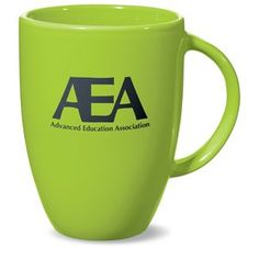 The sleek retro style of this 12 oz. mug is sure to wake up your next promotion!