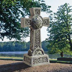 Donegal Celtic High Cross Statue - DB25692 - Design Toscano Irish Celtic, Celtic Art, Celtic Crosses, Celtic Symbols, Celtic Pride, Irish Pride, Angels Garden, Faux Granite, Bird Types