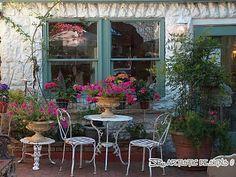 quaint french-look patio