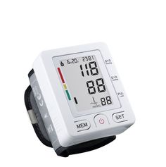 Professional FDA Approved Home Wrist Type Home Automatic Digital Blood Pressure Monitor Electronic Sphygmomanometer Irregular Heartbeat Detector with 180 Memories Recall White *** Click image for more details.