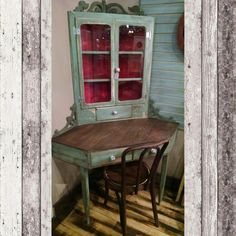 Upcycled corner desk with chair. $274.99