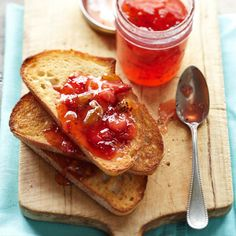 This ginger-spiced Strawberry-Kiwi Jam is delicious over buttered toast or served with cheese.