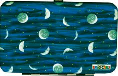 "Mini Clutch by Custom Direct- Featuring artwork from Eric Carle's celestial theme. The Mini Clutch has a snap closure, four credit card slots, and an ID window slot. The Mini Clutches measure 3 1/4""H x 5""W x 5/8""D."
