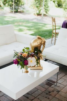 Merrimon Wynne House Wedding - Elephant Flower Arrangement - Brett & Jessica Photography - NC Wedding Planner Orangerie Events