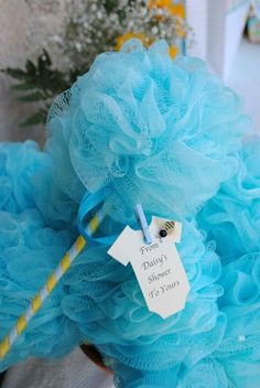 4. #Shower Poofs in Pink or Blue - #Adorable Baby Shower Favors That… #Favors