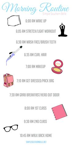 College is back and it's time to get into a routine again, so I'm sharing with you my detailed morning routine and how I stay productive. simplesouthernbelle.net