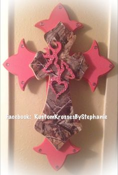 Pink Camo Cross