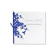 hummingbird blue evening invitation