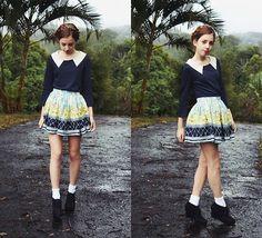 Milkmaid braids & Rainy days (by Isabella W) http://lookbook.nu/look/3561857-Milkmaid-braids-Rainy-days
