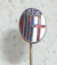 BOLOGNA FC - soccer Italy OLD ENAMEL PIN football badge calcio distintivo Italia