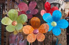 Tin Flowers by cn174, via Flickr