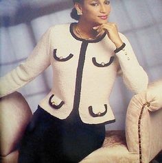 Ehi, ho trovato questa fantastica inserzione di Etsy su https://www.etsy.com/it/listing/177153857/vintage-crocheted-womens-jacket-pattern