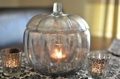 mercury glass pumpkin, diy