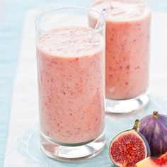 Peach and fig smoothie. For the full recipe, click the picture or visit RedOnline.co.uk