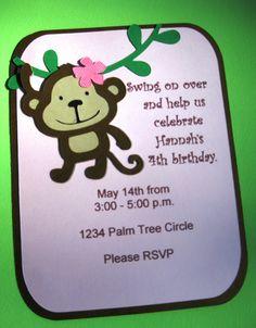 Monkey Party Invitations