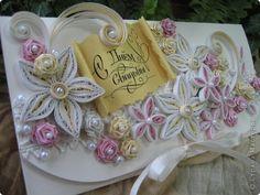 Открытка Свадьба Квиллинг Свадебные конвертики для денежного подарка Бумажные полосы фото 2