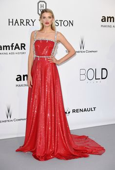 Lily Donaldson in Miu Miu - 2016 Cannes amfAR Cinema Against AIDS Gala Red Carpet: See the Best Looks   StyleCaster