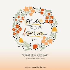 "ORAI SEM CESSAR. Free Screensavers for iPhone and Android! PRAY WITHOUT CEASING!""Words Wednesday"" – ORAI! 