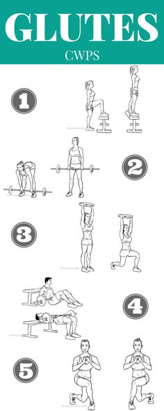A list of the best glute exercises and how to do them correctly! Need exercises for your butt? Here are 5 of the BEST exercises to tone your bum. Learn from a personal trainer, how to tone your butt and get a butt lifting workout in! These exercises for y Fitness Workouts, Weight Lifting Workouts, Weight Training, At Home Workouts, Quads And Hamstrings, Bum Workout, Workout Plans, Lift Buttocks Workout, Glute And Hamstring Workout