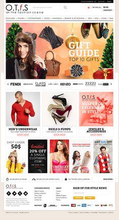 Online fashion store by Michał Rodak, via Behance