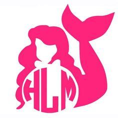 A personal favorite from my Etsy shop https://www.etsy.com/listing/473413153/mermaid-princess-disney-ariel-monogram
