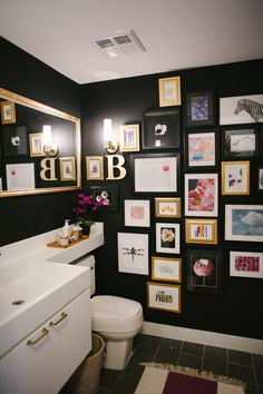 Fun, fun, fun gallery wall – where you'll get a few moments to take it all in. (even more fun if it was changeable, right?)