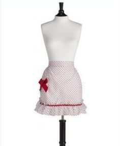 Kitchen Apronred Polka Dot Organdy Graceadult Jessie Steele (With Tags)