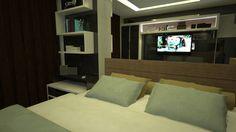 Suíte Master - Apartamento Residencial de um  Jovem Advogado - Condomínio Ed. Arc de France