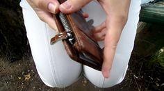 Leather wallet with mall aliexpress посылка Кошелек кожаный с молл алиэк...