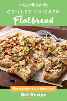 Chicken Flatbread, Flatbread Recipes, Grilled Chicken, Kitchen Recipes, Baking Recipes, Puff And Pie, Cream Cheese Chicken, Frozen Pizza, Kraft Recipes