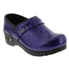 Sanita Women's Amethyst Casual Clog in Purple Metalic Patent - Factory 2nd