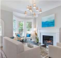 Greige Paint Colors - Contemporary - living room - Benjamin Moore Abalone - Cardea Building Co. Benjamin Moore Abalone, Harbor Gray Benjamin Moore, Living Room Paint, Living Room Decor, Living Rooms, Living Area, Small Living, Living Spaces, Gray Painted Walls