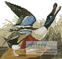 Mini Shoveller Duck Cross Stitch Pattern http://www.artecyshop.com/index.php?main_page=product_info&cPath=11_12&products_id=581