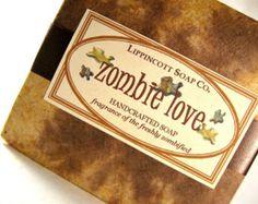 Zombie Soap - Cold Process Soap - Mens Soap - Teen Soap - Phthalate Free - Bar Soap