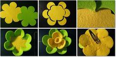 Tutorial flores em feltro