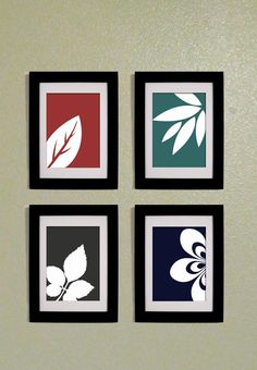 Modern Wall Art Leaf Prints