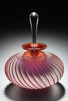 Twist' Art Glass Perfume Bottle by Mary Angus.