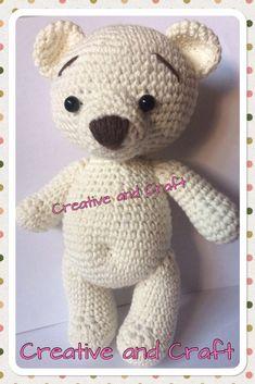 OSITO TIERNO OTOÑO | Creative&Craft Amigurumi Patterns, Amigurumi Doll, Doll Patterns, Crochet Doll Pattern, Crochet Dolls, Crochet Bear, Crochet Animals, Pet Toys, Bears