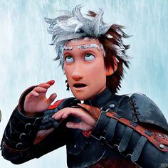 New Still of Hiccup from HTTYD 2!>>>>>>>Notice his hair is glowing. This is what happened to Jack's hair.